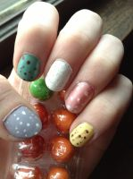 Easter nails 2013 by wittlecabbage