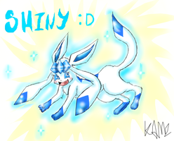SHINY ARSE GLACEON c: by KamiraCeeker