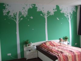 my bedroom wall by green-envy-designs