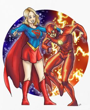 Kara and Barry by sonicboom35