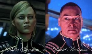 Why not more, Bioware? - Sanders and Anderson by ShadowcatPrime