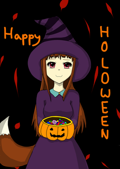 Happy Holo-ween! Spice and Wolf Halloween Fanart by Kat515