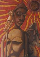 African sun by visionality