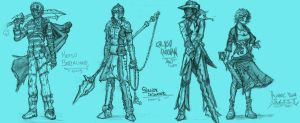 Pirate Character Sketches by ZEroePHYRt
