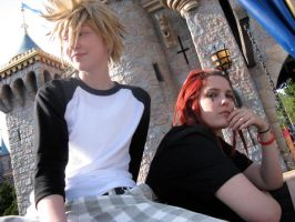 Axel and Roxas Disney Castle by twinfools