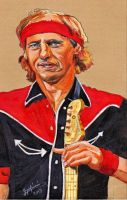 Mark Knopfler Colored pencil portrait by ZuzanaGyarfasova