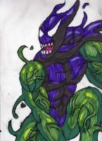 Symbiote Green Goblin Again by ChahlesXavier