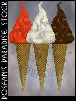 Softice Cones 003 by poserfan-stock