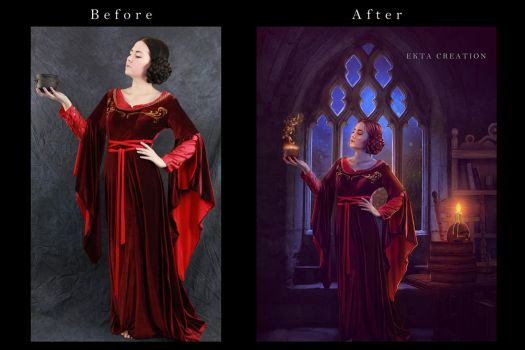 Red Witch Before After  by ektapinki