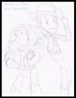 Woody and Buzz by KicsterAsh