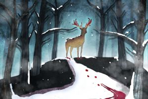 Red In The Forest by Ika-xin