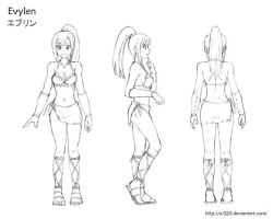 Evylen Model Sheet by A-020