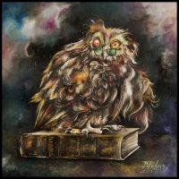 The Intellectual Owl by AmethReverie