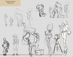 Sketches - Explorers by CatCouch