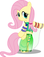 Fluttershy the belly dancer by BigDream64