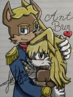 Antoine and Bunnie by Juliexknuckles