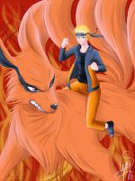 Prize: Naruto and Kyuubi by Thanysa