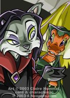 Ixi Courtier card - Neopets by shoomlah