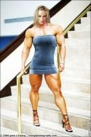 Female muscle 3 by BigDane