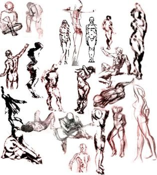 Figure Sketch Brushes by memories-stock