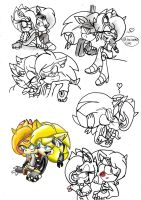 Yolace sketches. by Blinded-Djinn