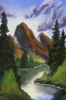 DRAW #46 Painting with Bob Ross by DailyRoutineArtWork