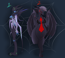 Strange Spider Women [Closed Adopts] by drawitout