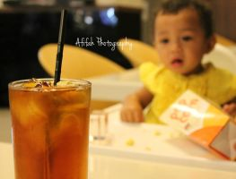 Baby Nabila like iced tea by afifahzahwa
