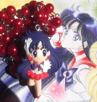 Kawaii Sailor Mars red pearl bead necklace by KawaiiMoon24