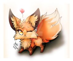 ...Little Sweet Fluffy Fox Finish... by Joakaha
