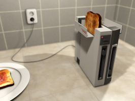 NES Toaster by MyBurningEyes