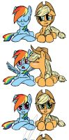 AppleJack x Rainbow Dash by malizlewa