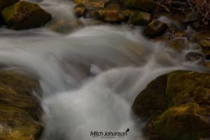 Mossy Rocks and Water by mjohanson