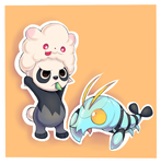 Afro Panda and Clauncher by Joltik92