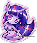 Chibi Pinup Pony Twilight by sererena