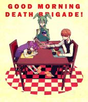 Good Morning Death Brigade by demitasse-lover