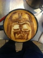 Darth Vader Latte by Coffee-Katie