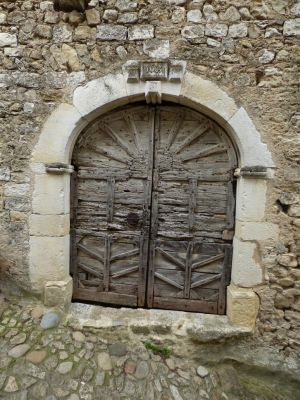 Very old wooden door of 1683 by A1Z2E3R