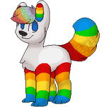 rainbow butt -commission- by Deer-dog