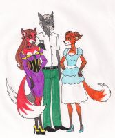 Foxes of District 5 by 13foxywolf666