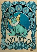 vaporeon by ASTROPUNCH