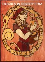 Idun Pyrography by DebsDen