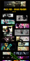 Pack PSDs + Bonus Render PSGFX by molcoso