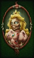 Princess Peach ZOMBIE by keepsake20