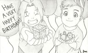 Elric Brothers Birthday by xJRosex