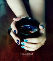 The universe in my cup by UndeathRock-Art