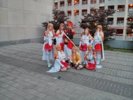 Klein with ALL the Asuna - Animazement 2014 by Kira-Kat