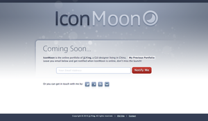 Coming-soon of IconMoon by JJ-Ying