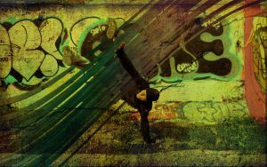 retro graffiti bboy by dontbemad