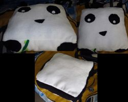 Panda Pillow by AztecTemplar